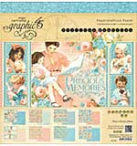 Graphic 45 Paper Pad 12x12 24pk - Precious Memories
