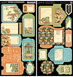 Artisan Style Cardstock Die-Cuts 6x12 Sheets 2pk - Tags and Pockets