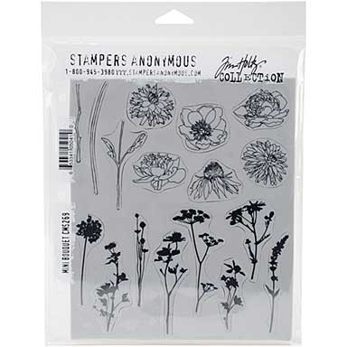 SO: Tim Holtz Cling Rubber Stamps - Mini Bouquet