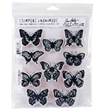 Tim Holtz Cling Stamps - Flutter
