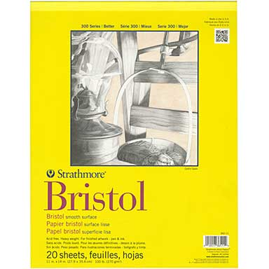 Strathmore Bristol Smooth Paper Pad 11x14 - 20 Sheets
