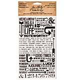 Idea-Ology Remnant Rubs Rub-Ons 4.75x7.75 Sheets 2pk - Life Quotes