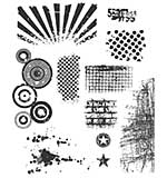 SO: Tim Holtz Cling Rubber Stamp Set 7x8.5 - Bitty Grunge