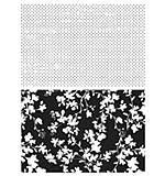 Tim Holtz Cling Rubber Stamp Set 7x8.5 - Dots and Floral