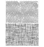 Tim Holtz Cling Rubber Stamp Set 7x8.5 - Mesh and Linen