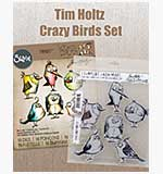 SO: Crazy Birds Stamps and Sizzix Cutting Dies Set #1 by Tim Holtz