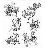 Bird Crazy Thoughts - Tim Holtz Cling Rubber Stamp Set 7X8.5