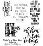 PRE: Tim Holtz Cling Stamps 7x8.5 - Ponderings