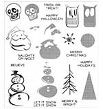 PRE: Tim Holtz Cling Stamps 7x8.5 - Mini Halftones