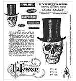 PRE: Tim Holtz Cling Stamps 7x8.5 - Undertaker