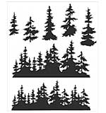 PRE: Tim Holtz Cling Stamps 7x8.5 - Tree Line