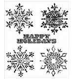 PRE: Tim Holtz Cling Stamps 7x8.5 - Weathered Winter