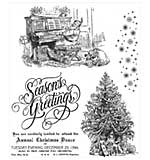 PRE: Tim Holtz Cling Stamps 7x8.5 - Christmas Magic