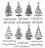 PRE: Tim Holtz Cling Stamps 7x8.5 - Scribbly Christmas