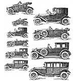 PRE: Tim Holtz Cling Stamps 7x8.5 - Vintage Auto