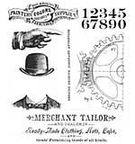 PRE: Tim Holtz Cling Stamps 7x8.5 - Dapper
