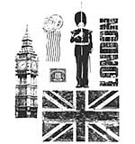 PRE: Tim Holtz Cling Stamps 7x8.5 - London Sights