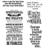 PRE: Tim Holtz Cling Stamps 7x8.5 - Way With Words