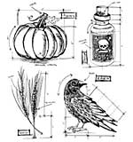 PRE: Tim Holtz Cling Stamps 7x8.5 - Halloween Blueprints #2
