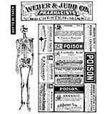 PRE: Tim Holtz Cling Stamps 7x8.5 - Poisonous