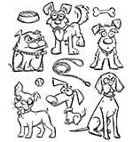 Crazy Dogs - Tim Holtz Cling Rubber Stamp Set