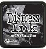 Tim Holtz Distress Mini Ink Pads - Black Soot