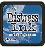 Tim Holtz Distress Mini Ink Pads - Faded Jeans