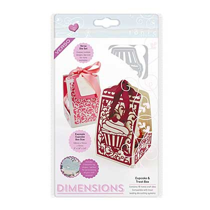 Tonic Studios Dimensions Verso Die Set - Cupcake and Treat Favor Gift Box and Tags