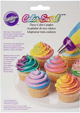 Colour Swirl I 3 Colour Icing Bag Coupler
