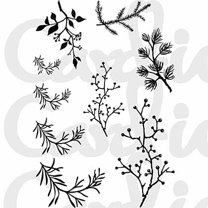 Card-io - Branching Out Clear Stamp Set