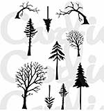 Card-io - Mini Tall Trees Clear Stamp Set