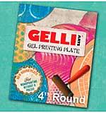 Gelli Arts Gel Printing Plate - 4 inch Round Plate