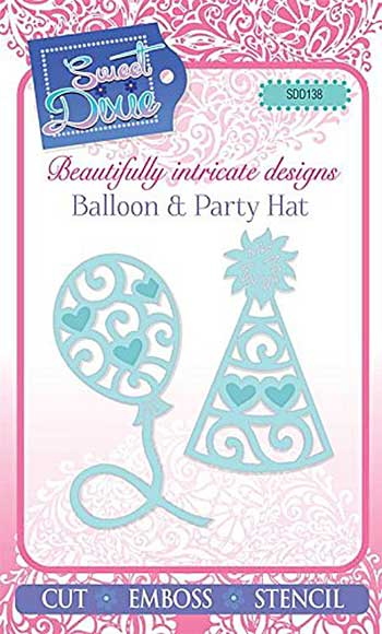 Sweet Dixie - Balloon and Party Hat Cutting Dies (2 dies)