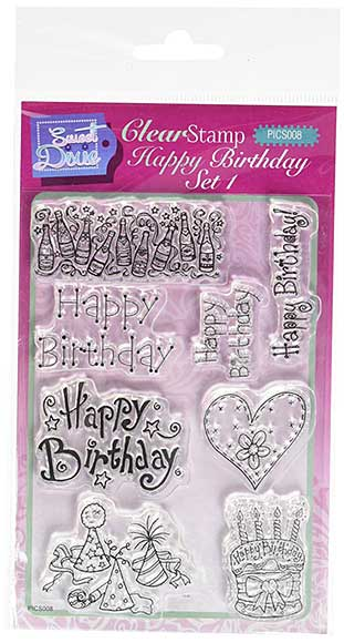 Lindsay Mason Designs - Happy Birthday Set 1 (A6 Clear Stamp Set)