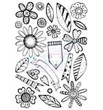 Sweet Dixie Retro Flowers A6 Clear Stamp