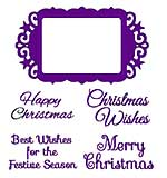 Sweet Dixie Christmas Dies - Christmas Greetings Frame with Stamps