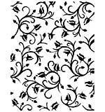 Ultimate Crafts Haviera Collection - Dancing Roses Embossing Folder