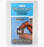 Shrink Art - A6 Roughened Shrink Plastic - Black (6 pk)