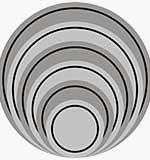 Cheery Lynn Cutting Dies - Circle Classic - LG Silver Stackers
