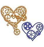 Cheery Lynn Designs Dies - Hearts 'n Gears (Set of 2) (Steampunk Series)