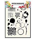 SO: Dutch Doobadoo Mask Art stencil - Geometric Tiles and Splats (A5)