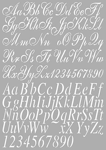 Dutch Doobadoo Mask Art Stencil - Alphabet #2 (A4)