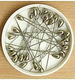 Pinflair Teardrop Hat Pins - Silver 50mm (10pk)