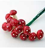 Scrapberrys - Red Mushrooms - Small (12pcs)