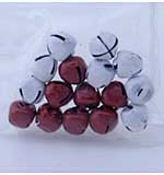Scrapberrys - Red and White Christmas Jingle Bells (16pcs)