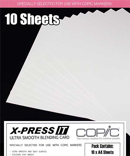 SO: Copic X-Press It - Smooth Copic xPress Blending Card (10 Sheets A4)