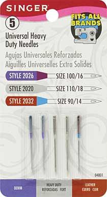 Universal Heavy Duty Machine Needles (5pk)