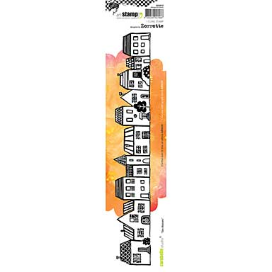 SO: Carabella Studio Cling Stamp Edge - Houses