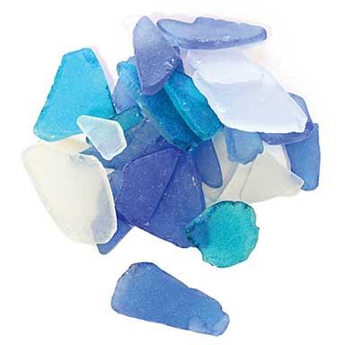 Sea Glass - Blue and White (12.5oz)