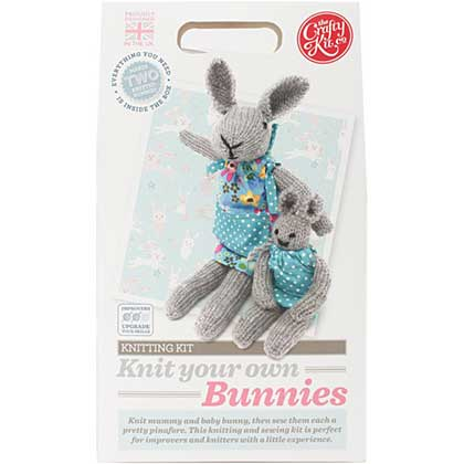 The Crafty Kit Co. Knitting Kit - Bunnies